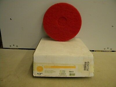 "Box of 5 Genuine Pro Link 13"" Red Buff Floor Maintenance Sanding Pads  FB513"