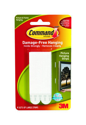 3M Command Large Picture Frame Hanging Strips / No Damage / Loose Packaging