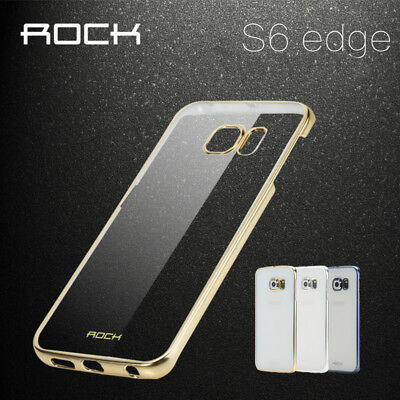 For Samsung Galaxy S6 Slim Electroplate Metal Clear Hard Phone Case Cover