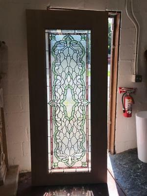 Beautiful Mahogany  Stained Glass Custom  Estate Door - Jhl2167-25