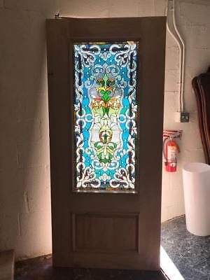 Beautiful Mahogany  Cut Stained Glass Custom  Estate Door - Jhl2147-26