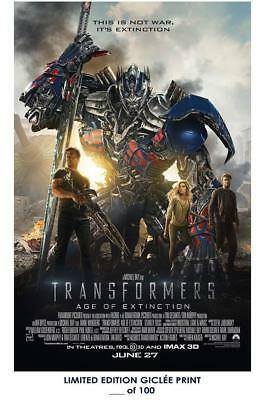 """18"""" X 12"""" Giclee Art Print Poster Transformers Age Of Extinction 02"""