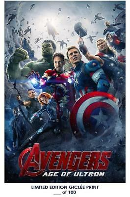 """18"""" X 12""""  Giclee Art Print Poster Avengers Age of Ultron 02"""