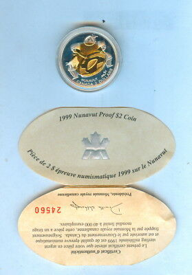 1999 $2 Dollars Canada Sterling Silver - Proof