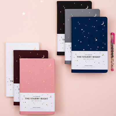 2019 The Starry Night Planner Diary Scheduler School Study Notebook Journal Book