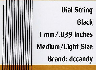Radio Dial Cord 24 Ft BRAIDED Nylon String 1mm BLACK for Vintage Radio Tuner