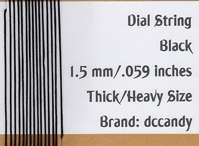 Radio Dial Cord 24 Ft BRAIDED Nylon String 1.5mm BLACK for Vintage Radio Tuner