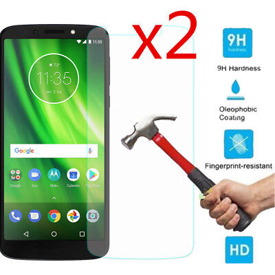 2X Premium Tempered Glass Screen Protector Cover Saver For Motorola Moto G6 Play