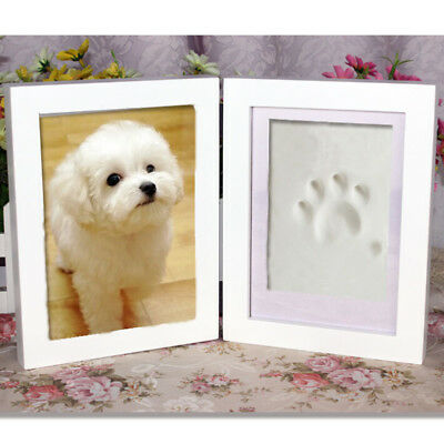 Dog or Cat Paw Print Pet Keepsake Photo Frame With Pet Pawprint Imprint Kit ATAU