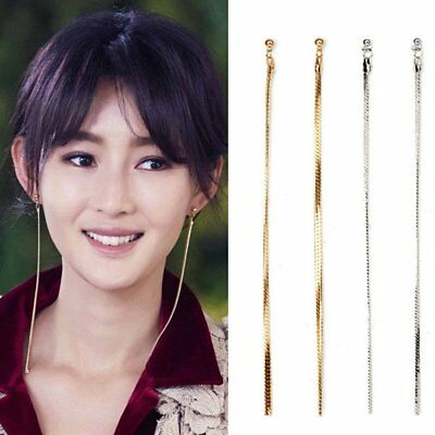 Vintage Women Earrings Long Chain Tassel Drop Ear Stud Hook Dangle Jewelry Gift