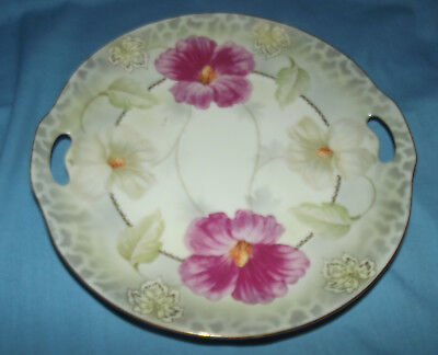 Antique Vintage Prov Sace E S Germany Floral Gold Rim Hand Painted Plate 336/582