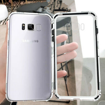 For Samsung Galaxy S10+ S10E 360° Magnetic Absorption Tempered Glass Case Cover