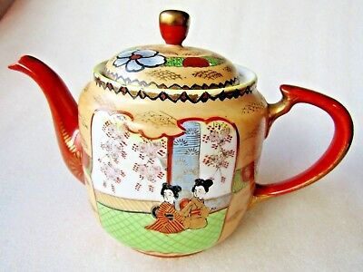TEAPOT ANTIQUE HAND PAINTED CHINESE  Perfect