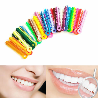 1040Pcs Dental Orthodontic Ligature Ties Multi-color​ Use Brackets Ties Bands