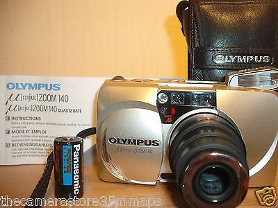 Olympus Mju Zoom 140 Quartz Date 35M Film Camera~38-140Mm Lens~Self Timer 35Jy13