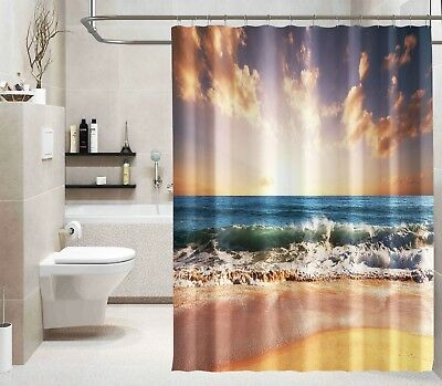Shower Curtains 3d Dolphin Sunshine Shower Curtain Waterproof Fiber Bathroom Home Windows Toilet