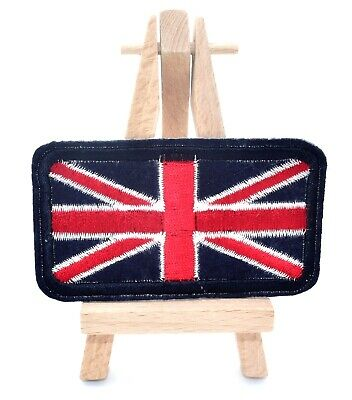 Ecusson brodé drapeau Angleterre UK Union jack iron-on embroidered patch 9 cm