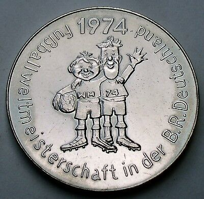 GERMANY, FIFA World Cup 1974 Mascot TIP & TAP Medal 35mm 18g Cu-Ni, Rare O10.2