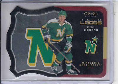15/16 OPC Platinum Minnesota North Stars Mike Modano Team Logos card #T-31