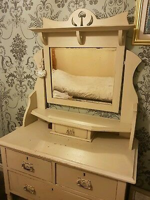 Antique Dressing Table/drawers With Mirror - Beautiful...bargain!!!