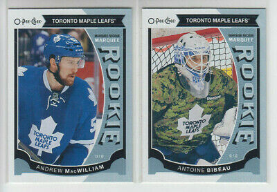 15/16 OPC Toronto Maple Leafs Marquee Rookie 3 cards MacWilliam Bailey Bibeau