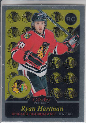 15/16 OPC Platinum Chicago Blackhawks Ryan Hartman Retro RC card #R73