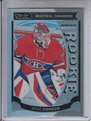 15/16 OPC Platinum Montreal Canadiens Mike Condon Rainbow Rookie card #M32