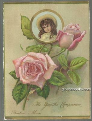 Victorian Trade Card for Youth's Companion, Boston Massachusetts with Young Girl