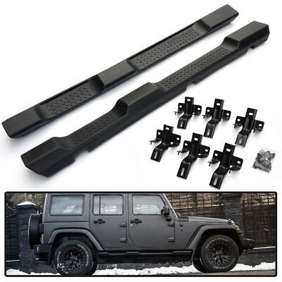Running Board Side Step For 07-17 JK Jeep Wrangler 4DR OE Factory Style Nerf Bar