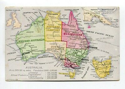 Early postcard Map of Australia to promote immigration?