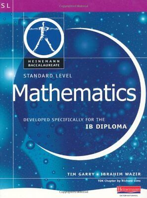 Pearson Baccalaureate: Standard Level Mathematics for... by Garry, Tim Paperback