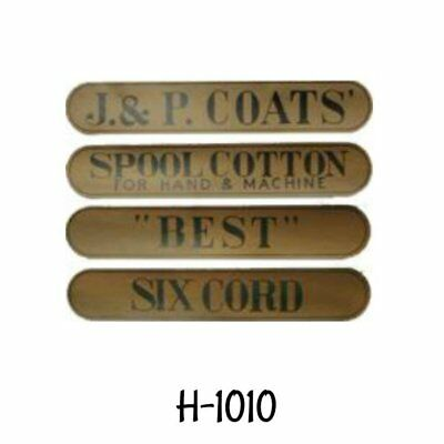 J & P Coats Spool Cabinet Decals stickers sign thread antique vintage