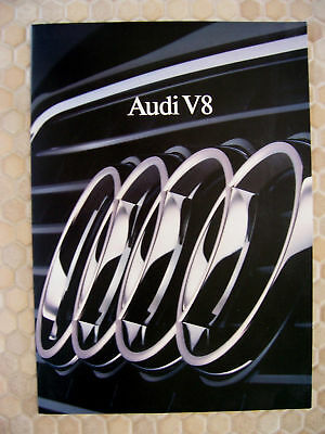 Audi Official V8 Engine History & Engineering Tech Brochure 1989 Usa Edition