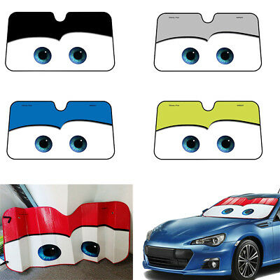 Cute Aluminium Cartoon Car Windshield Sun Shade Big Eyes Cars Front Visor Window