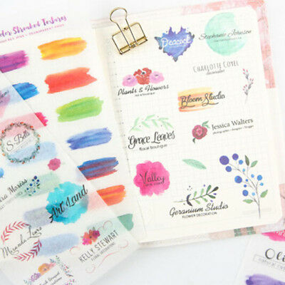 6pcs Creative Book Sticker DIY Scrapbook Diary Notebook Ablums Decorative Z