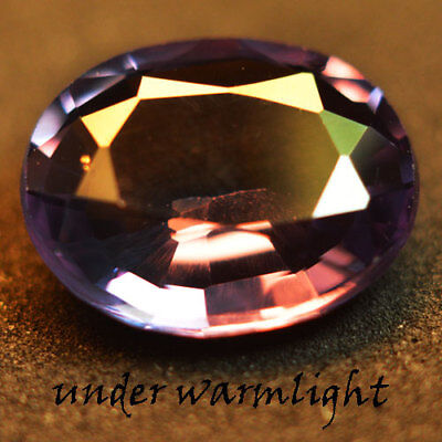 3.00ct.AWESOME RUSSIAN COLOR CHANGE ALEXANDRITE OVAL GEMSTONE
