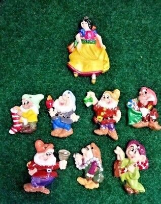 Vintage Disney Snow White & the Seven Dwarfs Ceramic Christmas Ornament Set