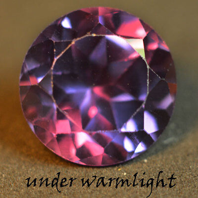 5.25ct.AWESOME RUSSIAN COLOR CHANGE ALEXANDRITE ROUND GEMSTONE