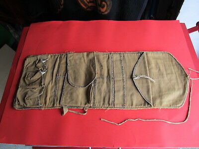 G.H. Fitzgerald WWI British Canvas Surgical Medical Bag Pouch Wrap Military