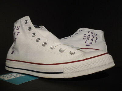 4b54358fe906f5 Converse All Star Hi Chuck Taylor Ct Undefeated Undftd Lakers White M7650  9.5