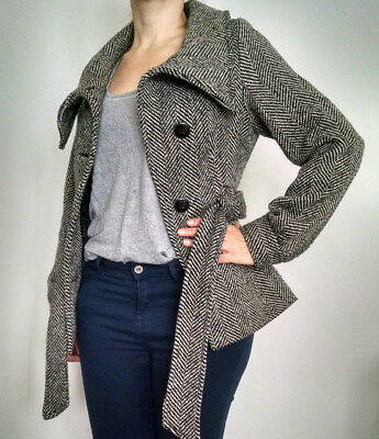 Manteau court tweed