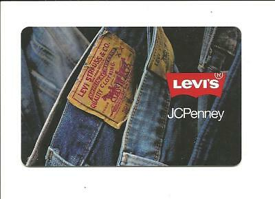 JC Penney Levis Gift Card No $ Value Collectible Jeans Dungarees