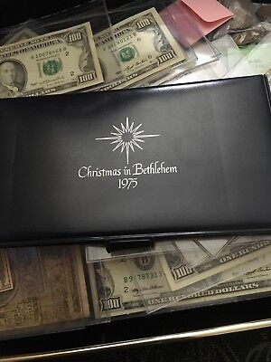 Christmas in Bethlehem 1975 Medallic Cachet solid sterling silver art rare coin