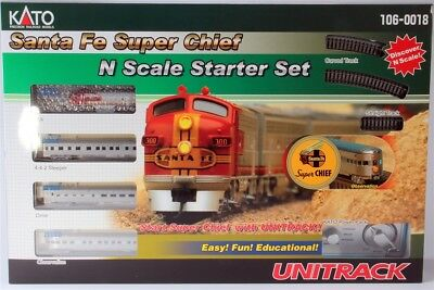 Kato N Guage Santa Fe Super Chief Starter Set 106-0018 New..........tk