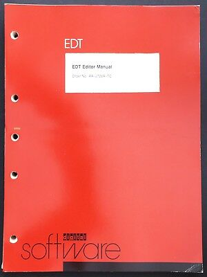 Digital DEC PDP-11 EDT Editor Manual 1980