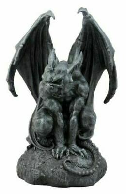 Warden Vraskod Large Cathedral Guardian Crouching Winged Gargoyle Statue 12 5 H 42 99 Picclick