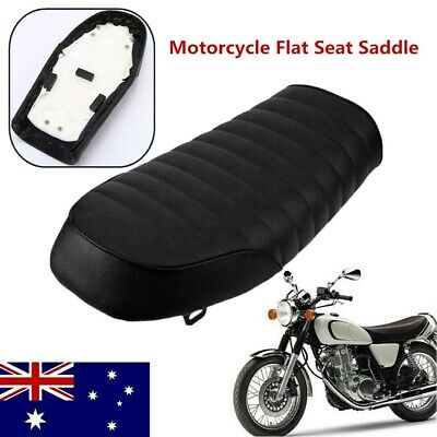 Black Hump Cafe Racer Saddle Seat Cushion For Honda CG Yamaha MA1491 AU Stock