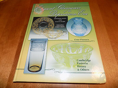 ELEGANT GLASSWARE of the DEPRESSION ERA Glass Antique Collector 10th Ed Book