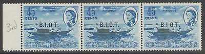 BRITISH INDIAN OCEAN TERR SG7/a 1968 45c DEFINITIVE ONE WITH NO STOP AFTER I MNH