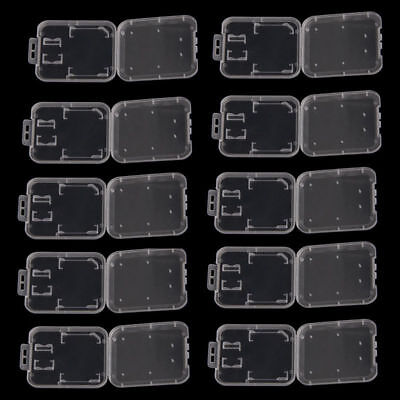 10X Transparent Carry Storage Protective Box Case Holder for SD/SDHC Memory Card